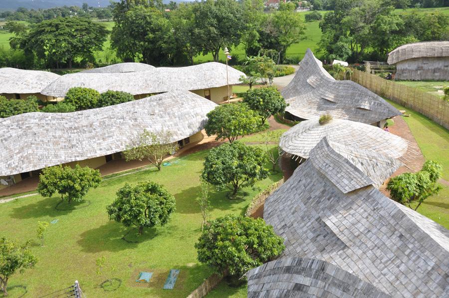Panyaden School Chiang Mai top view seen from water tower