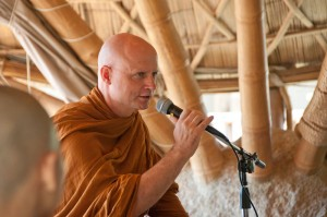 AJahn Jayasaro giving dhamma talk at Panyaden School Open House 2013 in Chiang Mai