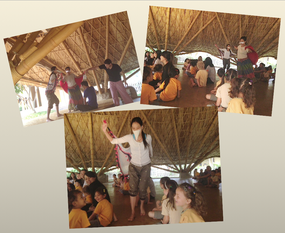 Panyaden teachers enact story about wise habit, yoniso-manasikara, Panyaden School Chiang Mai