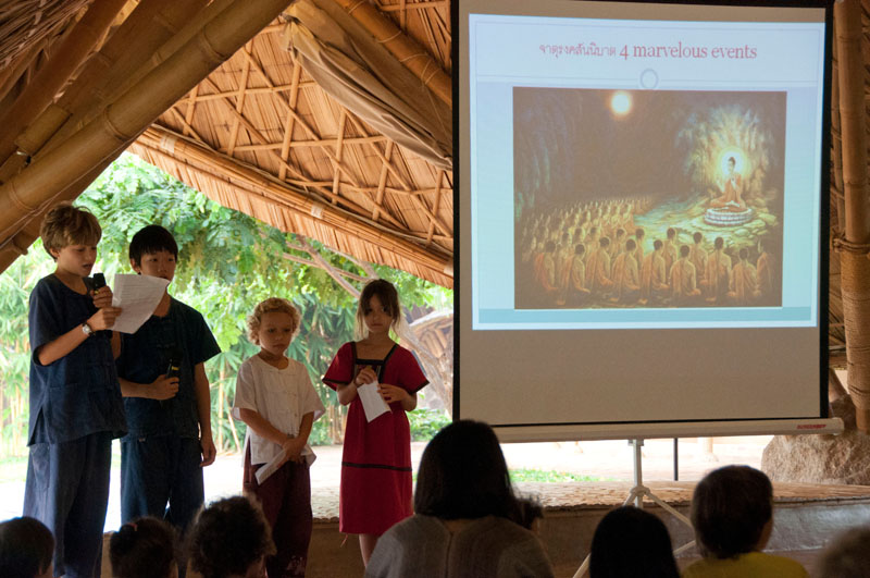 Panyaden students talk about the importance of Makha Bucha Day