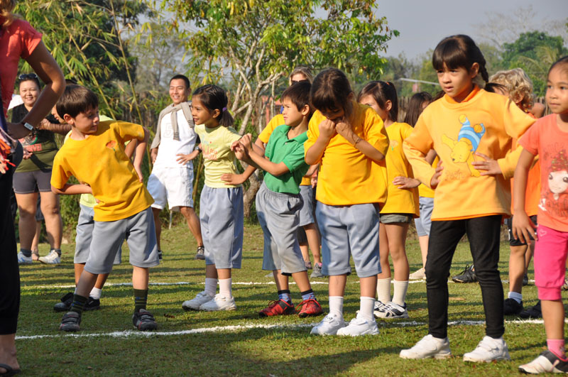 Aerobics at Panyaden School Chiang Mai Sports Day