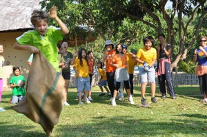 Sack race, Panyaden School Chiang Mai Sports Day
