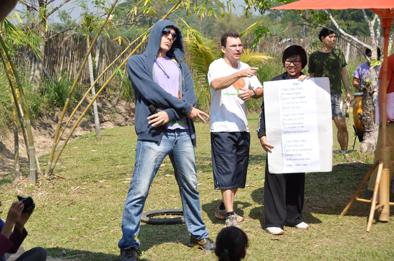 Rap by School Director, Neil Amas on Sports Day 2013, Panyaden School Chiang Mai