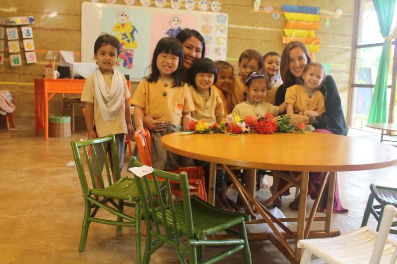 IMG_1092 Nursery & K1 students with homeroom teachers on Teacher's Day, Panyaden School