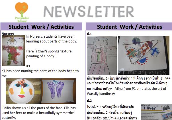 Panyaden School bilingual newsletter issue 10