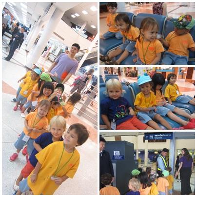 Panyaden School kindergarten student field trip to Chiang Mai airport
