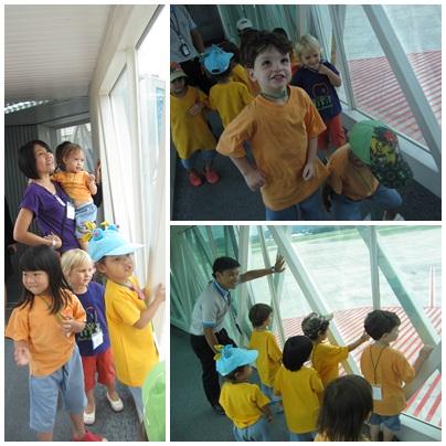 Panyaden kindergarten visit Chiang Mai Airport