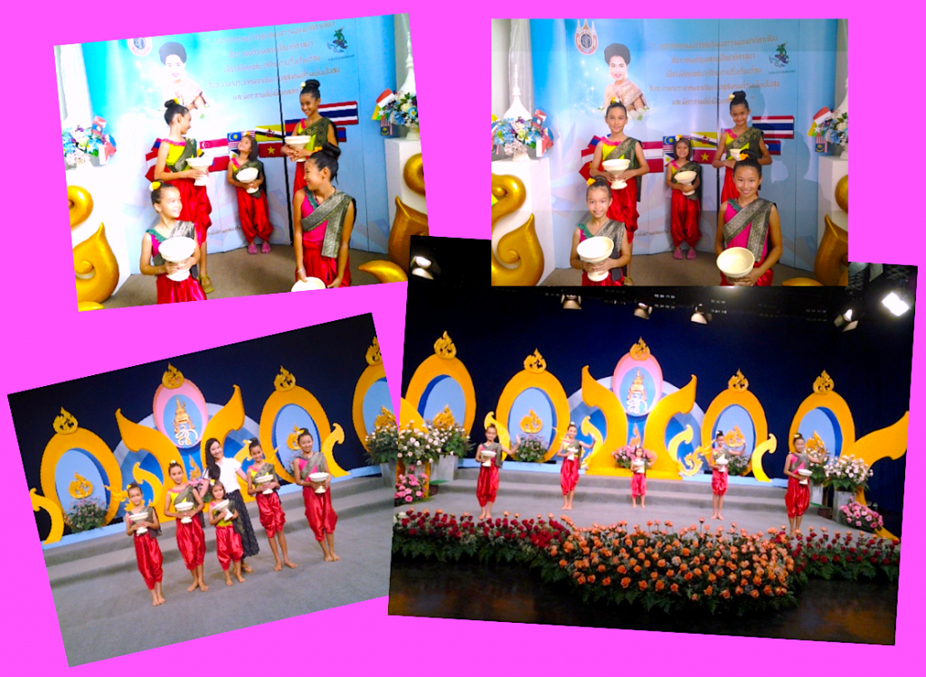 Panyaden School students perform Thai dance on TV