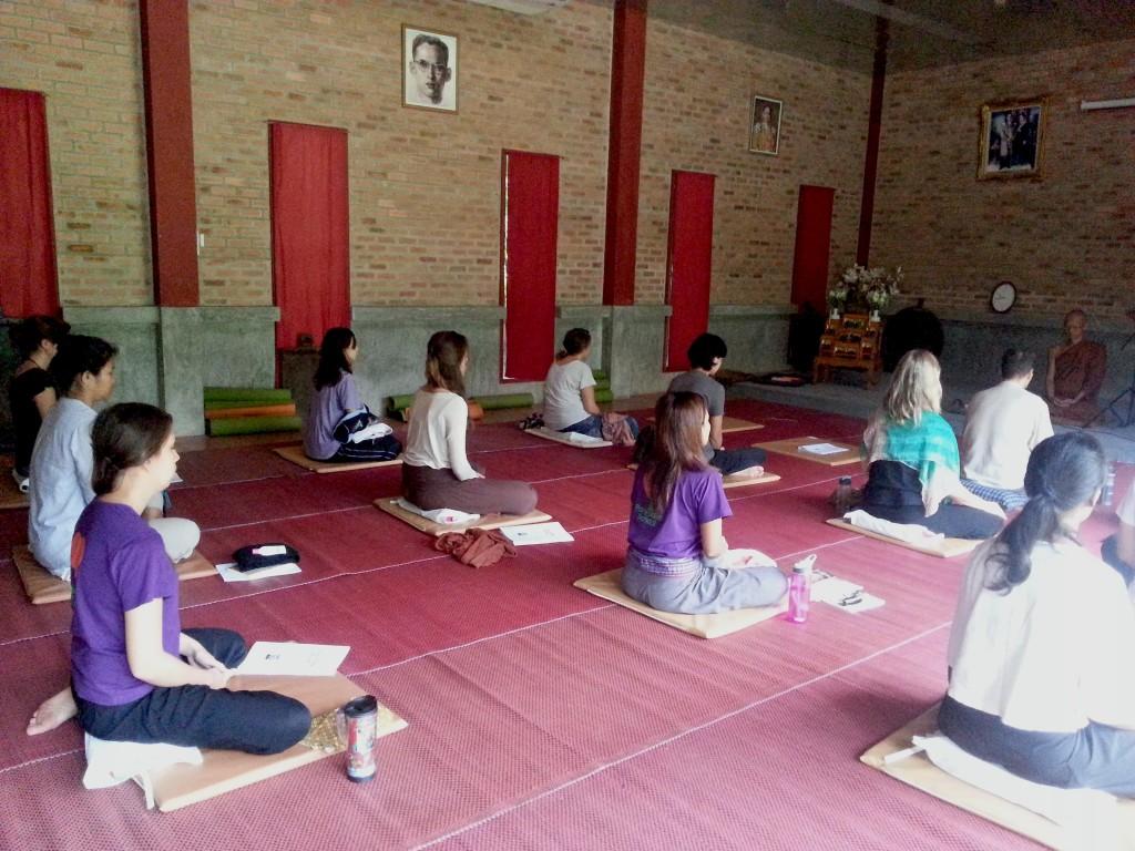 Panyaden staff at meditation session