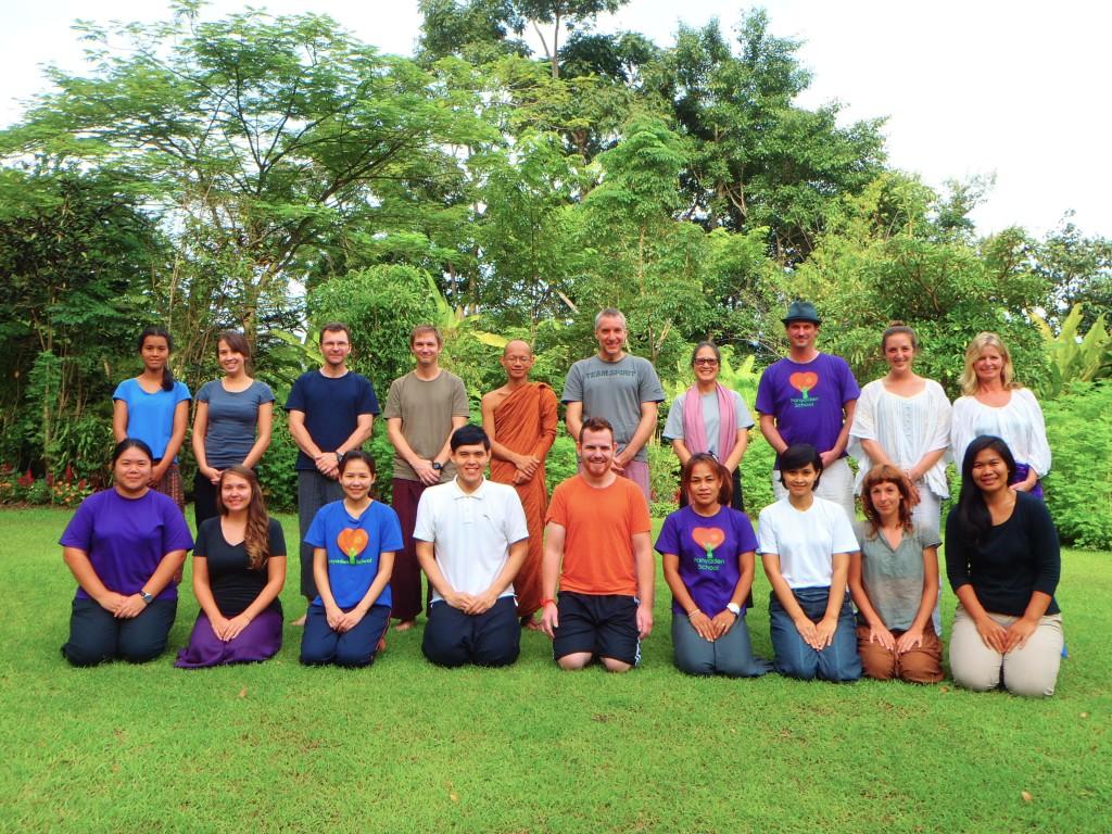 Panyaden School staff at meditation retreat in Chiang Mai