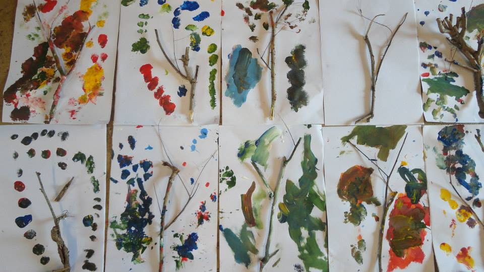 Nature art by nursery students, Panyaden School Chiang Mai