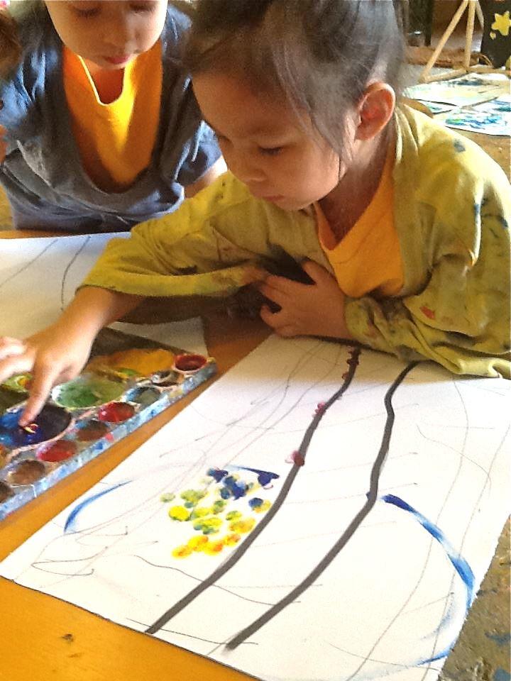 Student painting, Panyaden School Chiang Mai