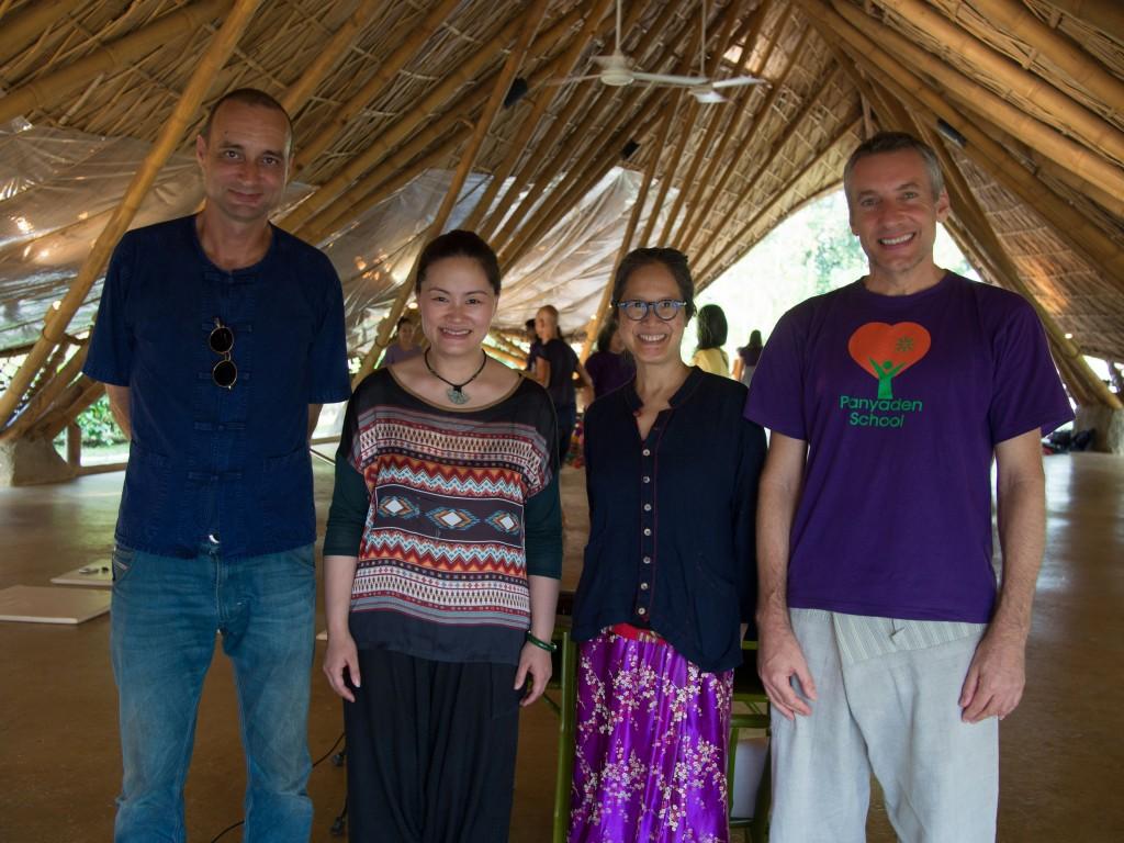 Some of Panyaden School team with Guqin musician Wu Na