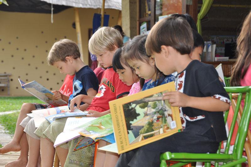 Panyaden students during Reading Week at school