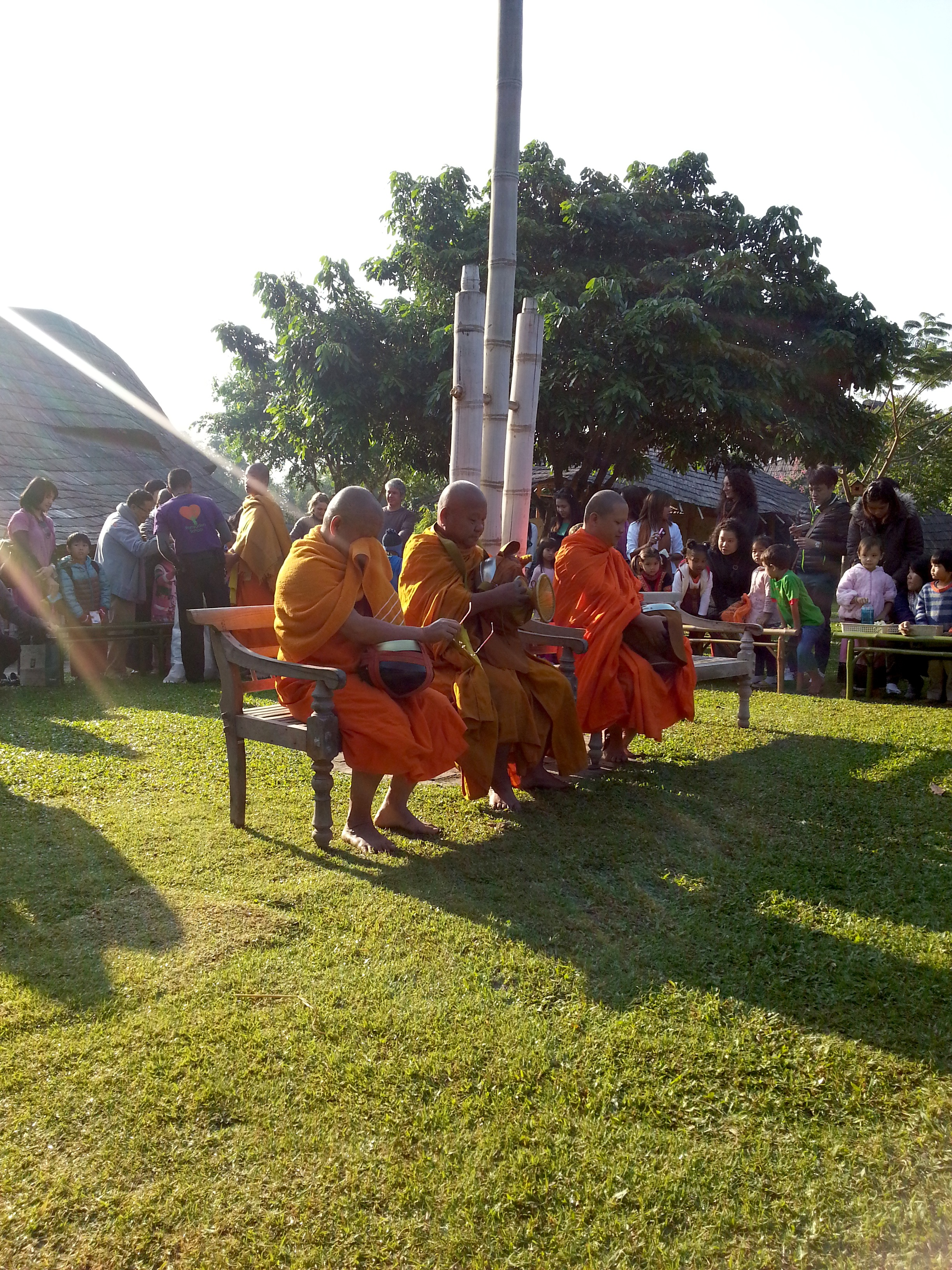 Blessings from monks, Panyaden School
