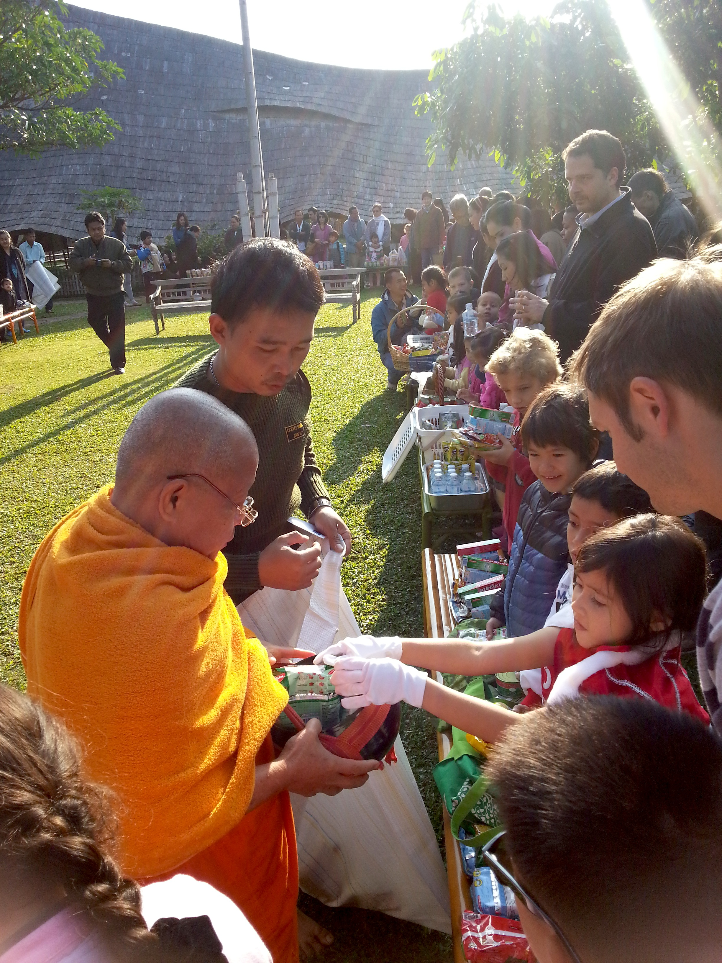 Food offering to monks 2, Panyaden School