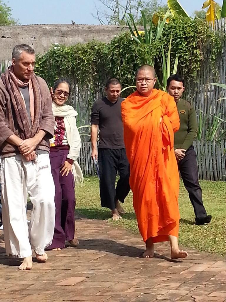 Ajahn Vajiramedhi visits green Panyaden School in Chiang Mai