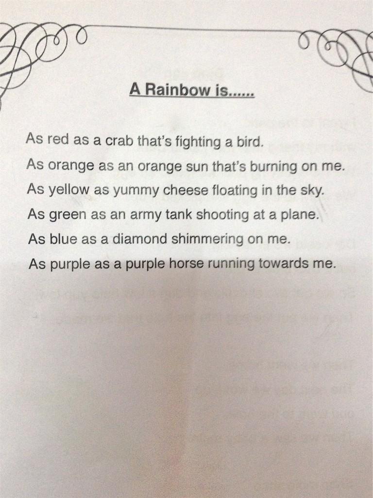 Noah's poem, Panyaden School