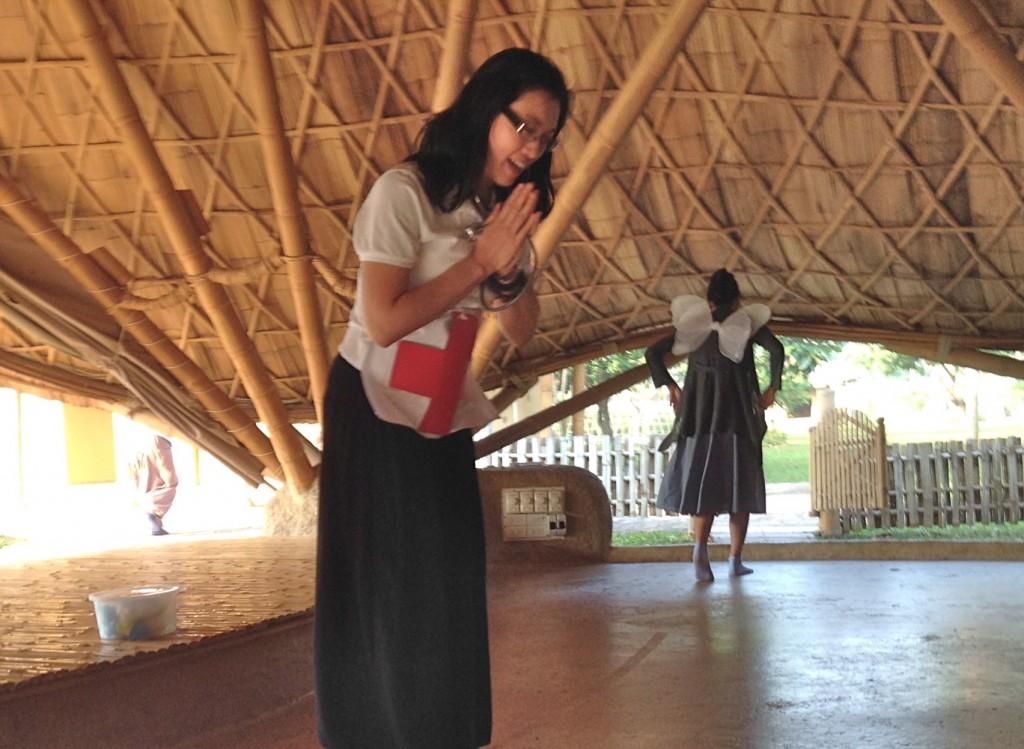 IMG_1376 Master Caga telling the story of Japanese saba, Panyaden School wise habit session