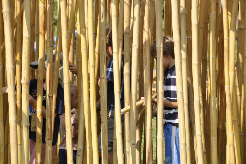DSC0064 Giant bamboo flute at Panyaden School Chiang Mai