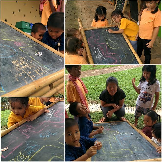 Magnet race track made by Kindergarten 2, Panyaden School
