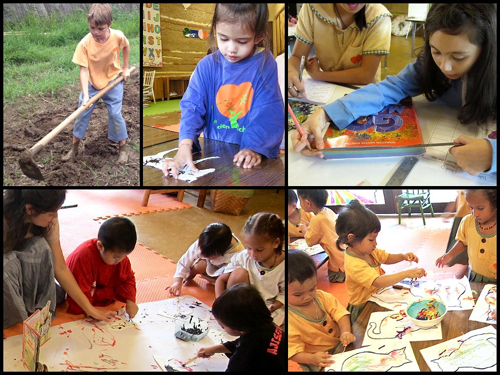 Panyaden students practise Viriya at school