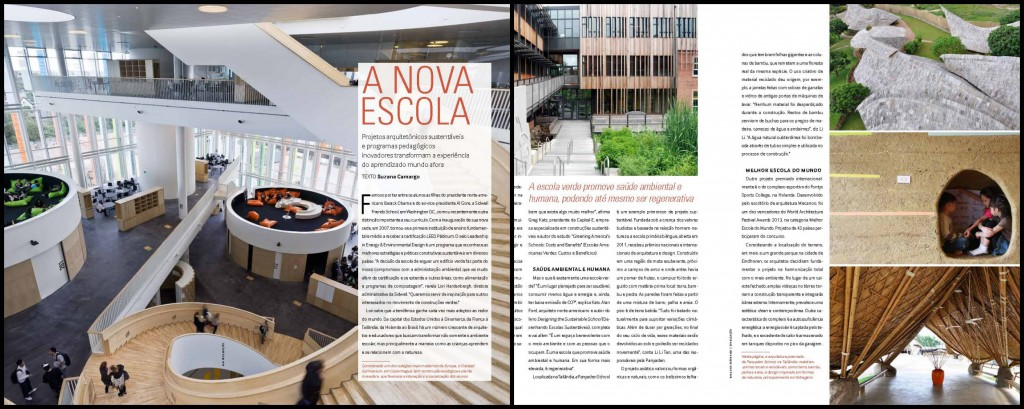 Green school Panyaden School Chiang Mai featured in Docol, Brazilian Architectural and Design magazine