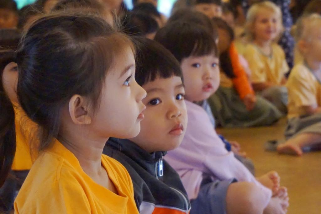 Psnyaden students engrossed in play by teachers, Reading Week 2014