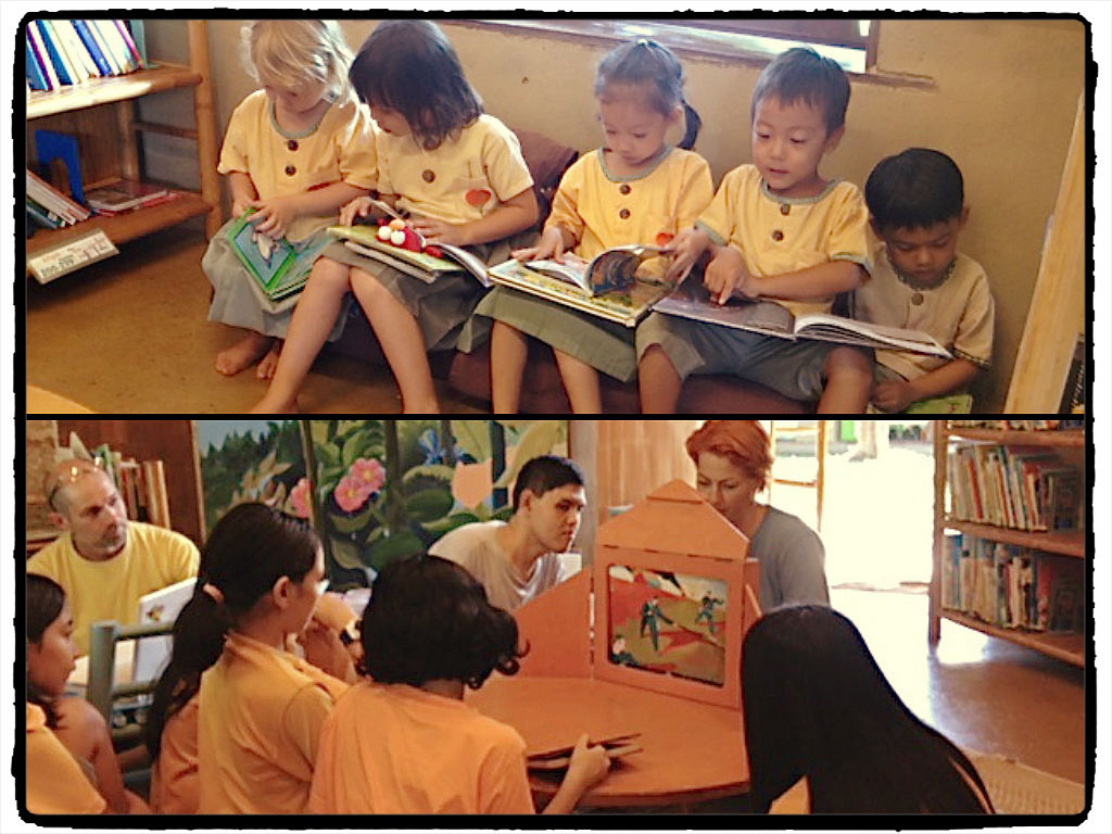 Panyaden students reading in our school library