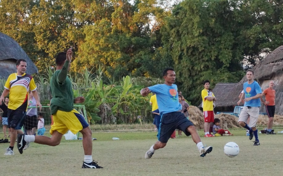 Panyaden School teacher vs parents football match 1
