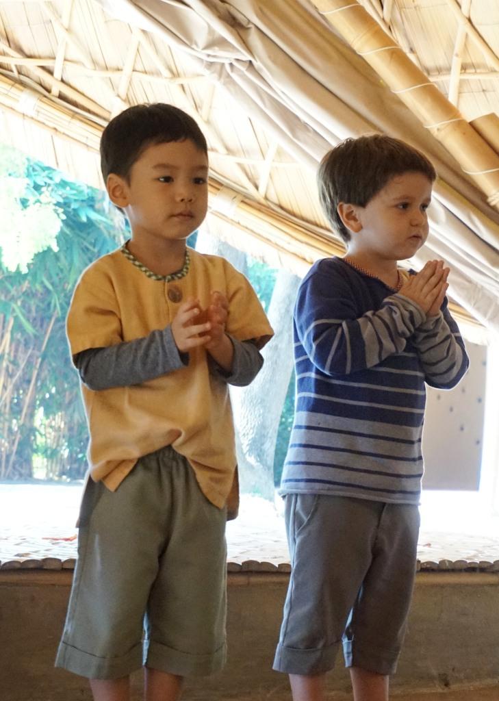 Panyaden kindergarten students performing on Father's Day