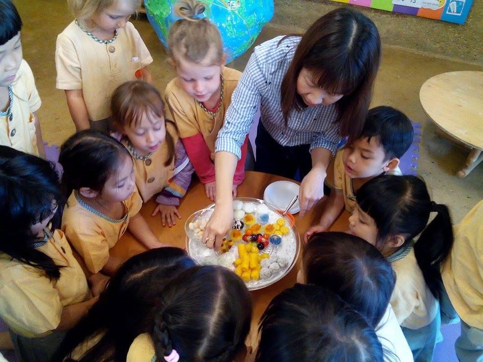 Thai desserts brought by Panyaden mum for Kindergarten 2 class