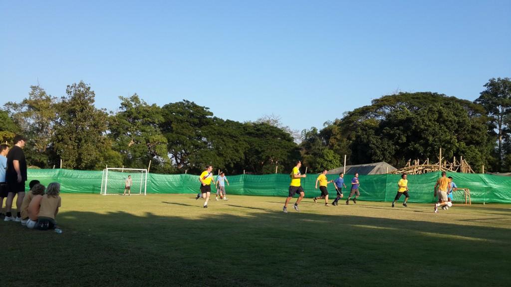 Football match at Panyaden School soccer field