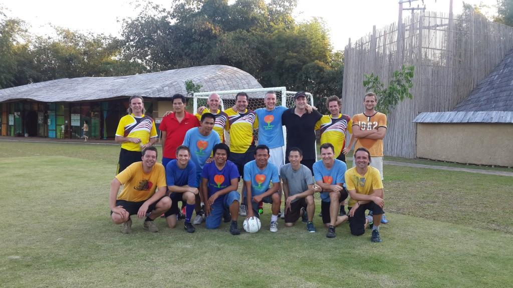 Panyaden School teachers and parents football teams