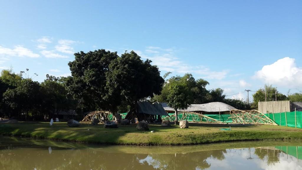 Panyaden School's new classroom building in progress
