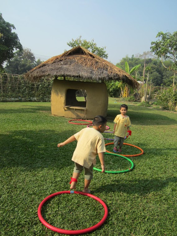 Panyaden Kindergarten 1 playing a game