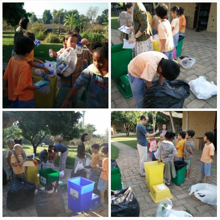 Prathom 1 separating garbage, Panyaden School