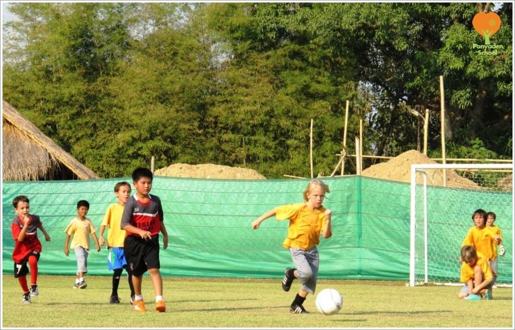Panyaden School's budding footballers