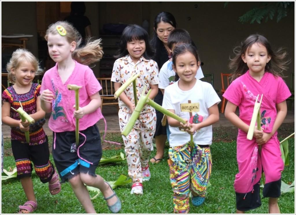 Giddy Up! Panyaden students enjoy traditional Thai folk craft, banana leaf horse