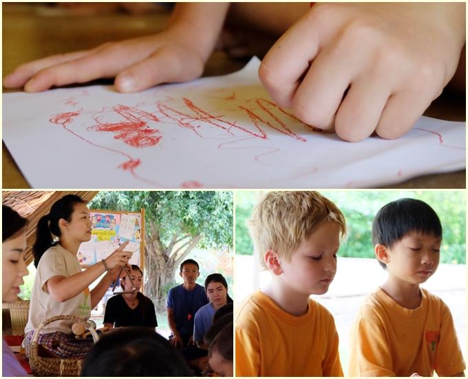 Panyaden School Prathom 1-3 mindfulness activity 18-8-2015