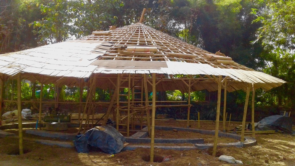 New bamboo and earth bathrooms for Panyaden School's primary students