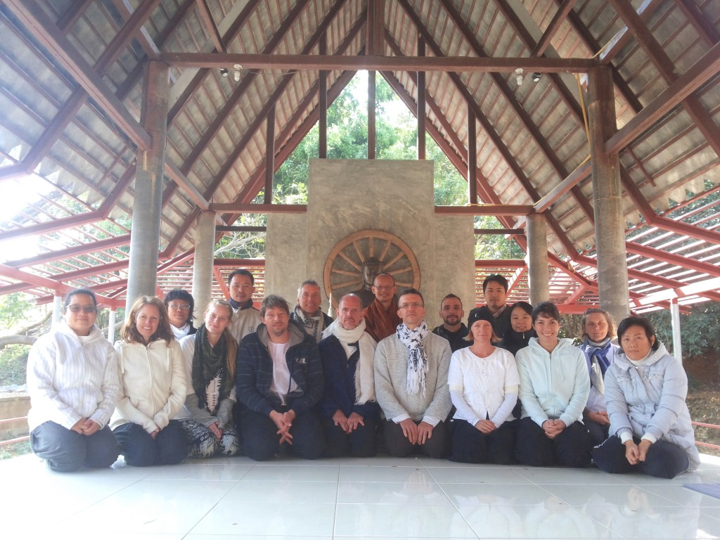 Panyaden parents meditation retreat group photo in Chiang Rai