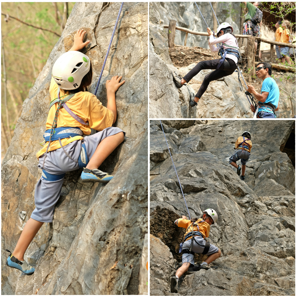 Panyaden School Grade 3 rock climbing