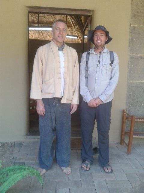 Panyaden School Director, Neil Amas with Lloyd Godson from the Nature School Australia. Photo courtesy of The Nature School.