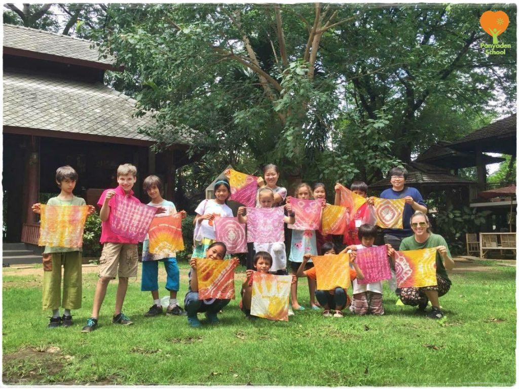 Panyaden School grade 3 students at Lanna Wisdom School (Hong Hien Seub San), Chiang Mai