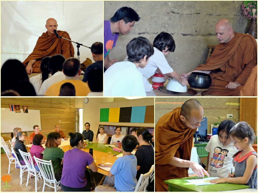 Venerable guests at Panyaden School