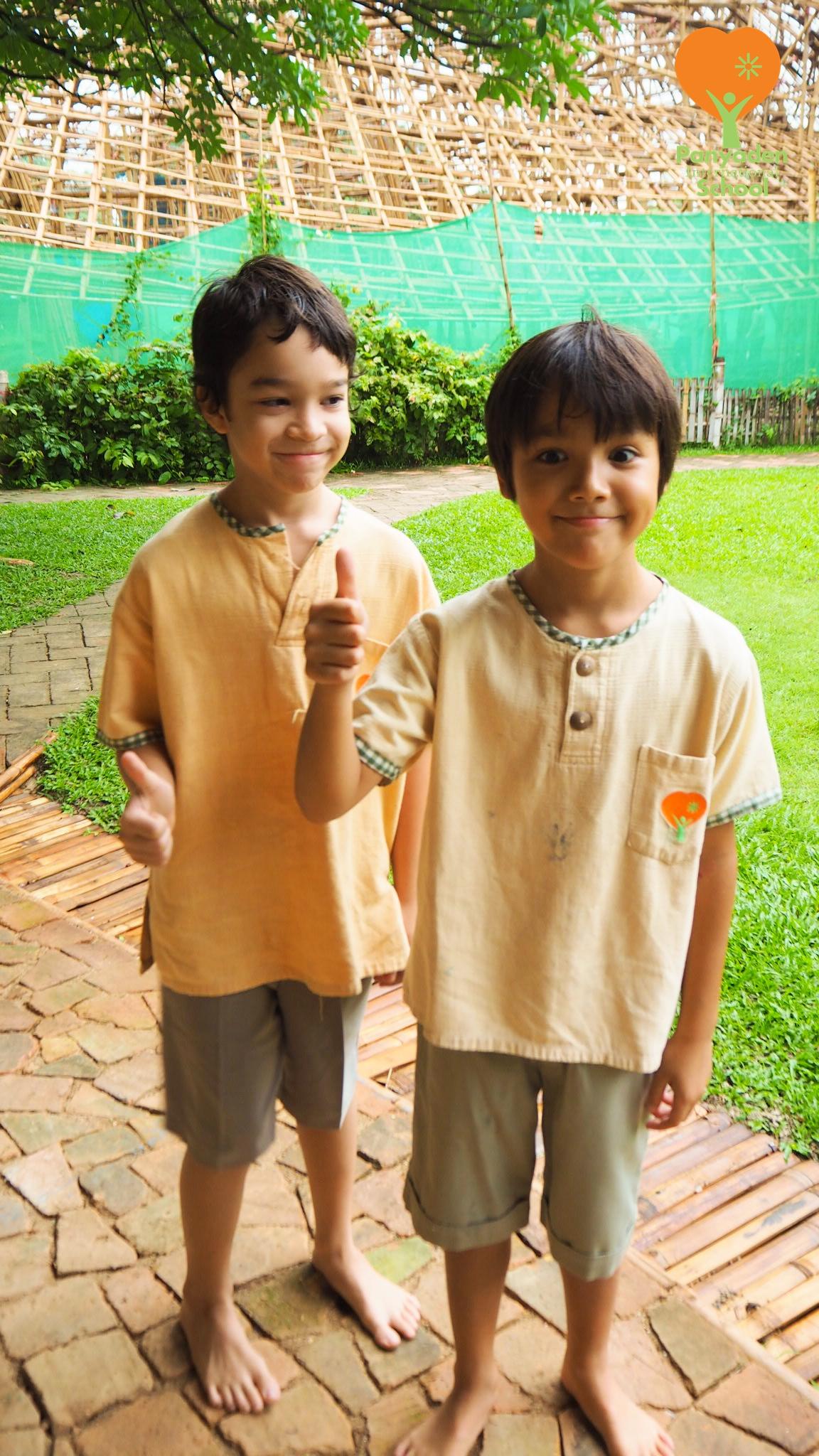 Happy to be back at school! Panyaden International School students.