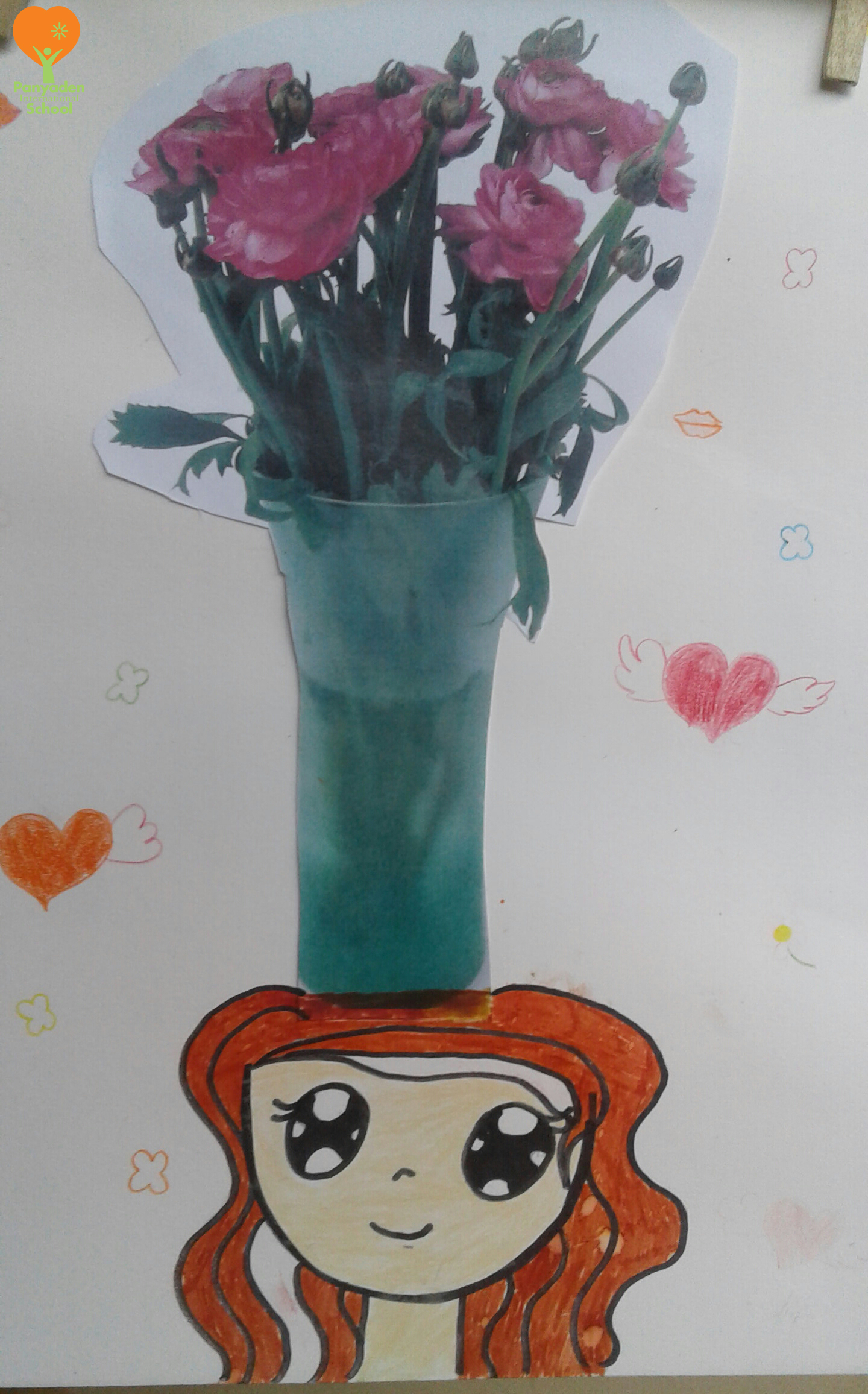Surreal vase of flowers by Panyaden International School student