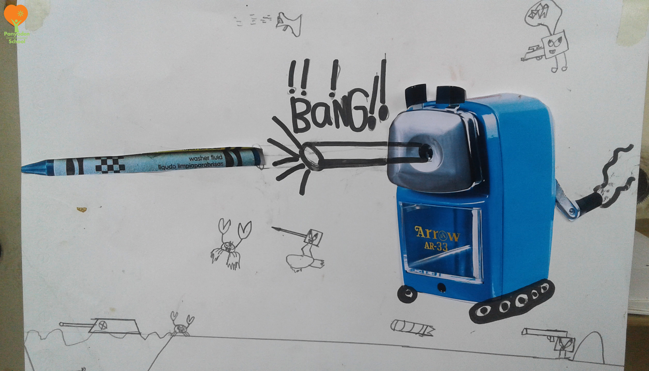 20161005_170945logo Surreal pencil sharpener art by Panyaden International School student