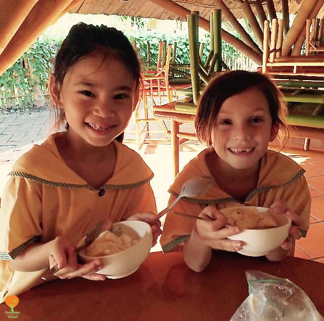 Panyaden Science Club students enjoy their self-made ice cream